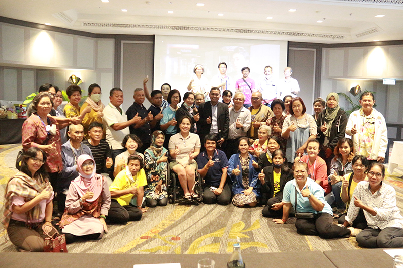 Group photo of participants and resource persons at closing session of the training