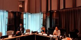 Director-General of the Department of ASEAN Affairs, Ms. Usana Berananda, and Representative of Thailand to the AICHR, Dr. Amara Pongsapich, chaired the meeting